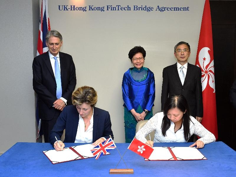 HK signs fintech co-operation agreement with the UK